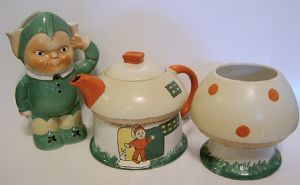 Shelley - Mabel Lucy Attwell Boo Boo Tea Set Complete - Temp Out Of Stock